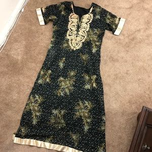 Dresses & Skirts - Hand embroidered Pakistani Indian kameez Kurta